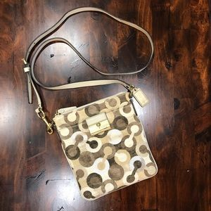 Coach sequin embellished neutral crossbody